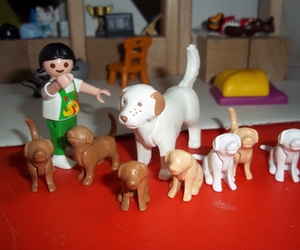 chiens, chiots, and playmobils image