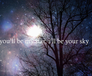 stars, sky, and quote image