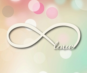 love, infinity, and wallpaper image
