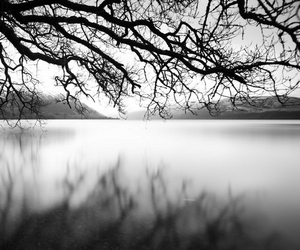 black and white, landscape, and solitude image