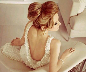 dress, hair, and hairstyle image
