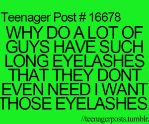 eyelashes, funny, and teenager post image