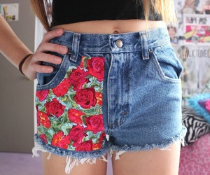 shorts, tumblr, and flowers image