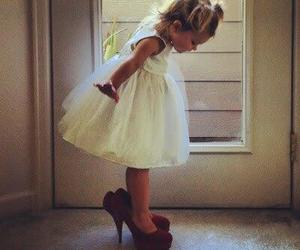 cute, dress, and baby image