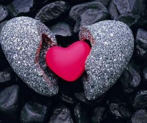 heart, pink, and broken image