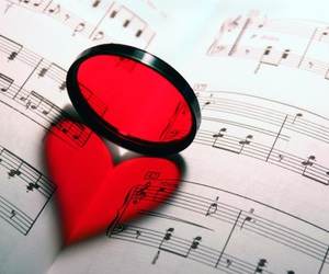 love, music, and heart image