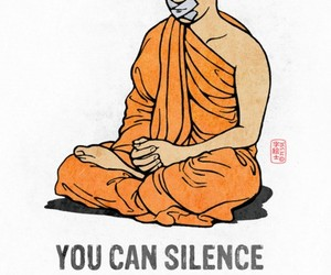 heart, silence, and quote image