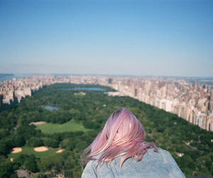 new york, hair, and pink image
