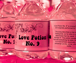 pink, love, and potion image