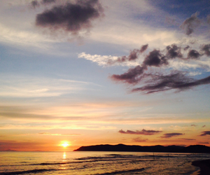 mare, toscana, and tramonto image