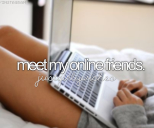 friends, online, and meet image
