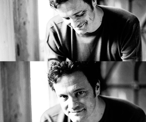 Colin Firth and black and white image