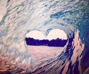 beach, surfs, and love image