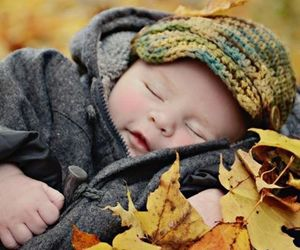autumn, baby, and child image