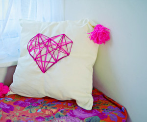 cushions, heart, and pillow image