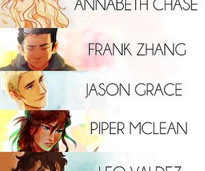 percy jackson, annabeth chase, and leo valdez image