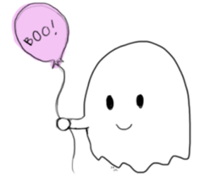 ballon, boo, and ghost image