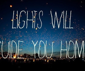 light, coldplay, and home image
