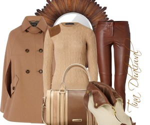 booties, leather, and sweater image