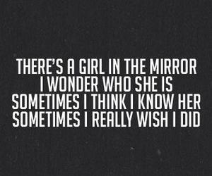 girl, mirror, and quote image