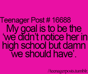 goals, high school, and girl image