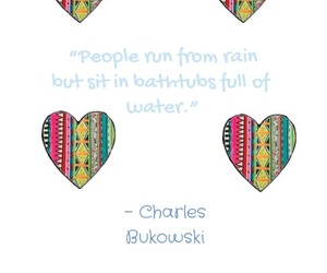 art, charles bukowski, and heart image