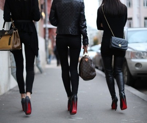 bags, hair, and legs image