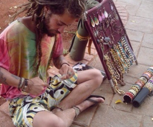 dreads, hippie, and trippy image