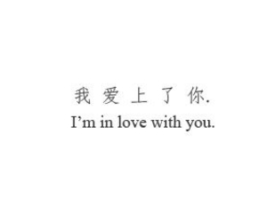 love, quotes, and chinese image