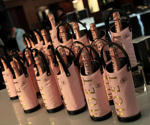 pink, moet, and champagne image
