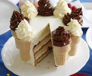 cake, ice cream, and food image