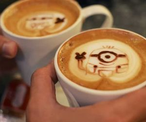 cappuccino, coffee, and cups image