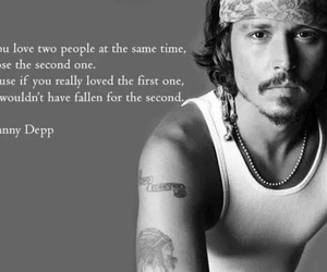 johnny depp, second, and love image