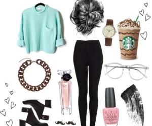 blue, starbuck, and fashion image