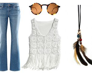 boho, feathers, and hippie image