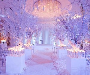 winter, wedding, and white image