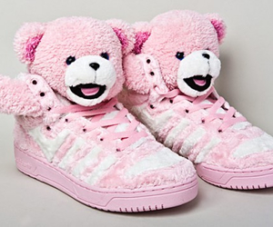 pink, shoes, and bear image