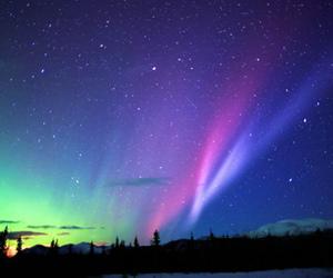 sky, stars, and aurora image