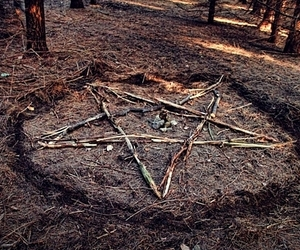 pentagram, ritual, and witch image