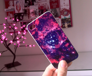 case, galaxy, and girl image