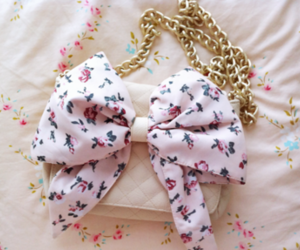 bag, bow, and pink image
