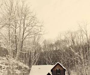 winter cottage image