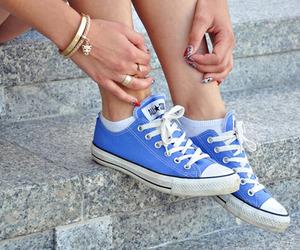 converse, blue, and fashion image