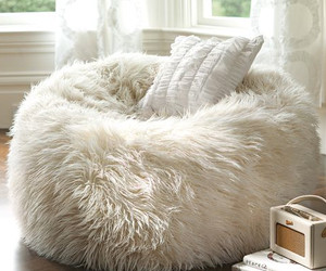 comfortable, fluffy, and pouf image