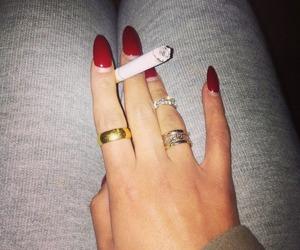 nails, ring, and smoke image