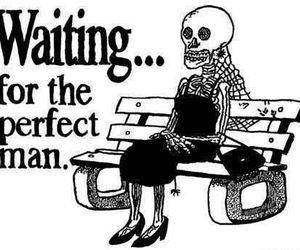 Bank, perfect man, and skeleton image