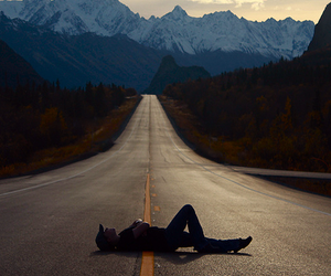 road, mountains, and travel image