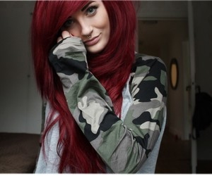 beautiful, camouflage, and colorful hair image