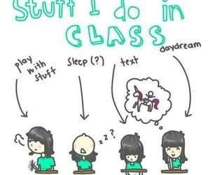 class, school, and sleep image