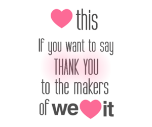 heart, love, and thank you image